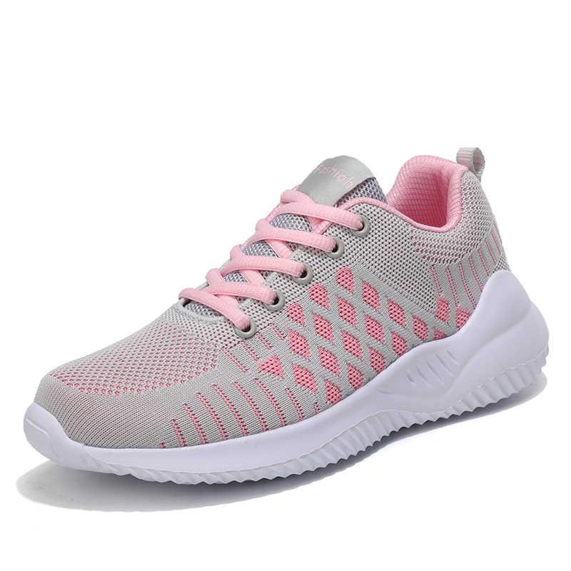 Sepeti Femme kadınlar açık rahat nefes spor ayakkabı spor eğitmenler spor atletik kadın Tenis ayakkabıları Tenis Feminino