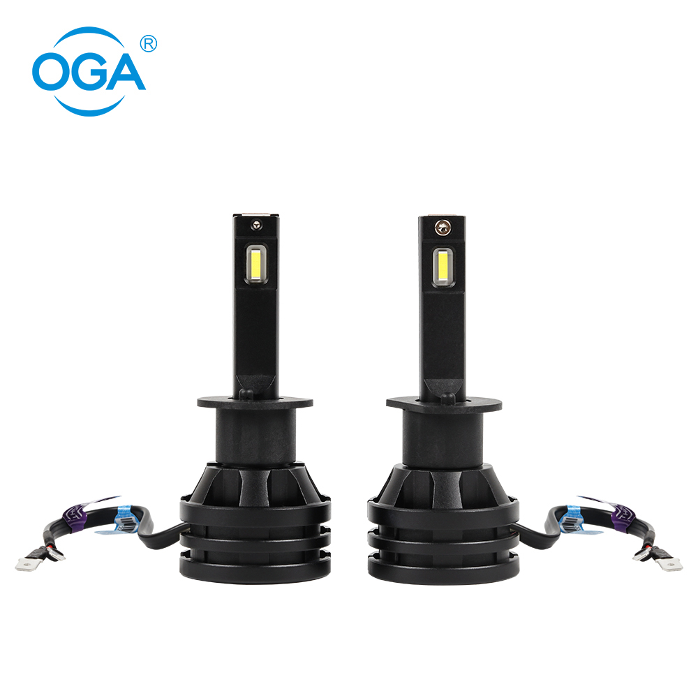OGA 2pcs H1 <font><b>LED</b></font> H3 <font><b>9012</b></font>(HIR2) Headlight Bulb H13 9008 PSX26 P13 Mini Turbo Fan Car Light 56W 12V 6500K Headlamp Car Accessories image
