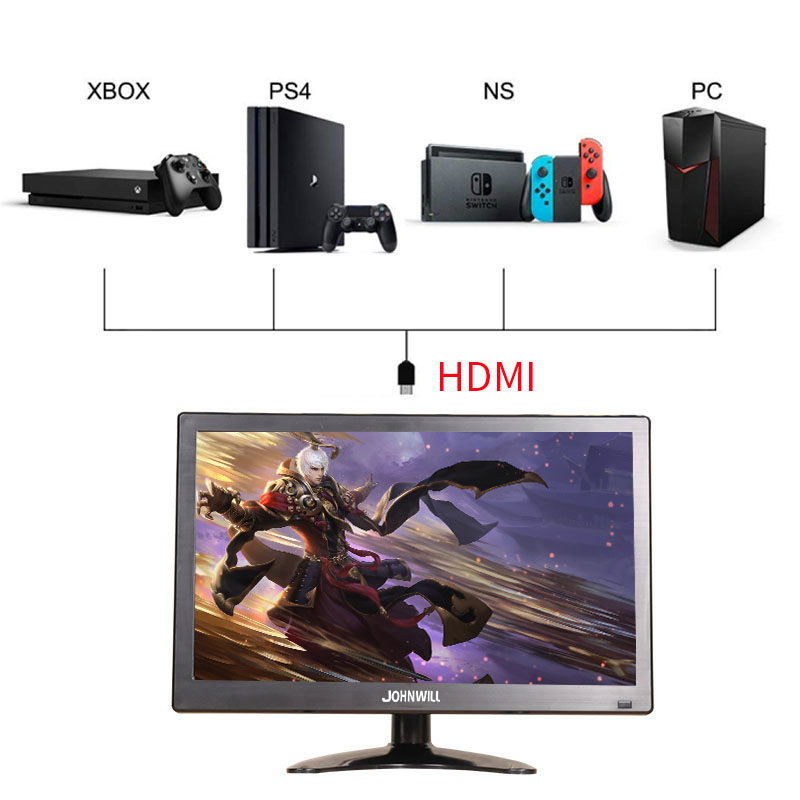 New 12 inch 1920x1080P HD Portable Display with HDMI VGA Interface Computer Gaming Monitor for PS4 Xbox360 image