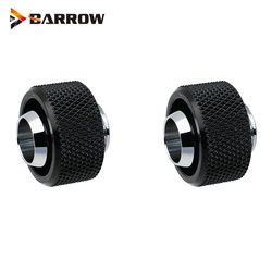 2PCS, Barrow G1/4 10X16MM Hose Soft Tube Hand Compression Fittings Computer Water Cooling Build Silver Black White ,TFHRKN38H