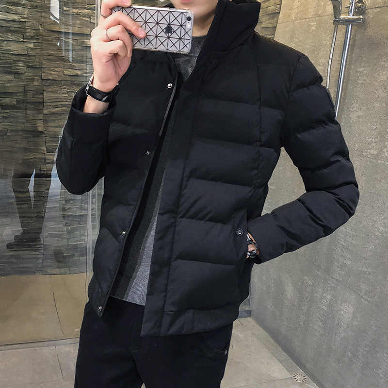 Cotton-padded Clothes Men Winter Coat 2019 New Style Korean-style Trend Winter Down Jacket Cotton-padded Clothes Short Cotton-pa