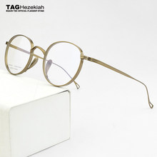 2021 nova marca de luxo redonda titânio óculos quadro homens óptica miopia prescrição óculos quadro feminino ultraleve eyewear 113