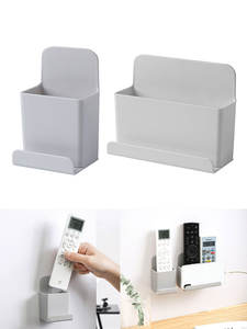 Wall Mounted Organizer Storage Box Remote Control Air Conditioner Stand Holder Hotel Office Home Storage Organization