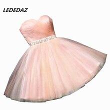 LEDEDAZ Сексуальные Короткие мини платья для выпускного вечера для девочек дешевые платья для выпускного вечера Бисероплетение размера плюс Встреча выпускников/корпоративративы Выпускной платья