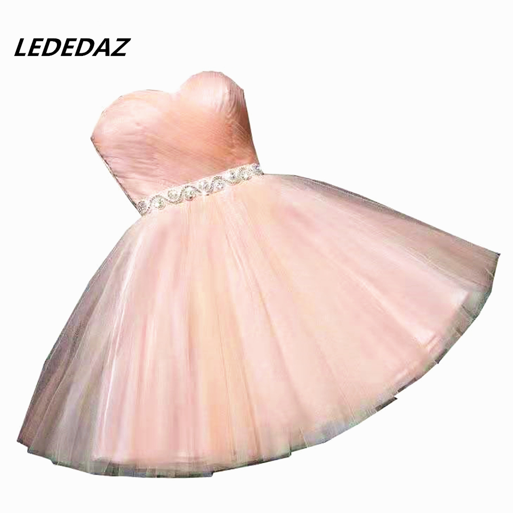 LEDEDAZ Sexy Short Mini Homecoming Dresses For Girls Cheap Prom Party Dresses Beading Plus Size Homecoming Graduation Dresses