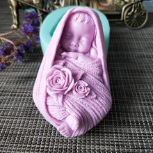 PRZY Flower baby soap silicone mold handmade DIY mold for soap making aroma mould soap making moulds resin clay molds цена