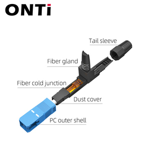 Image 2 - ONTi 400pcs Embedded SC UPC Fiber Optic Fast Connector FTTH Single Mode Fiber Optic SC Quick Connector SC Adapter Field Assembly