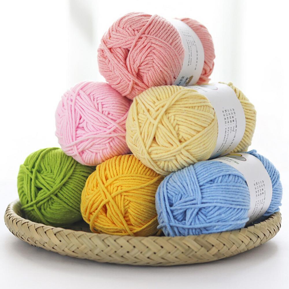Hot multicolor Crochet Suave Hilo De Ganchillo Hilado De La Fibra Natural Lana De Leche