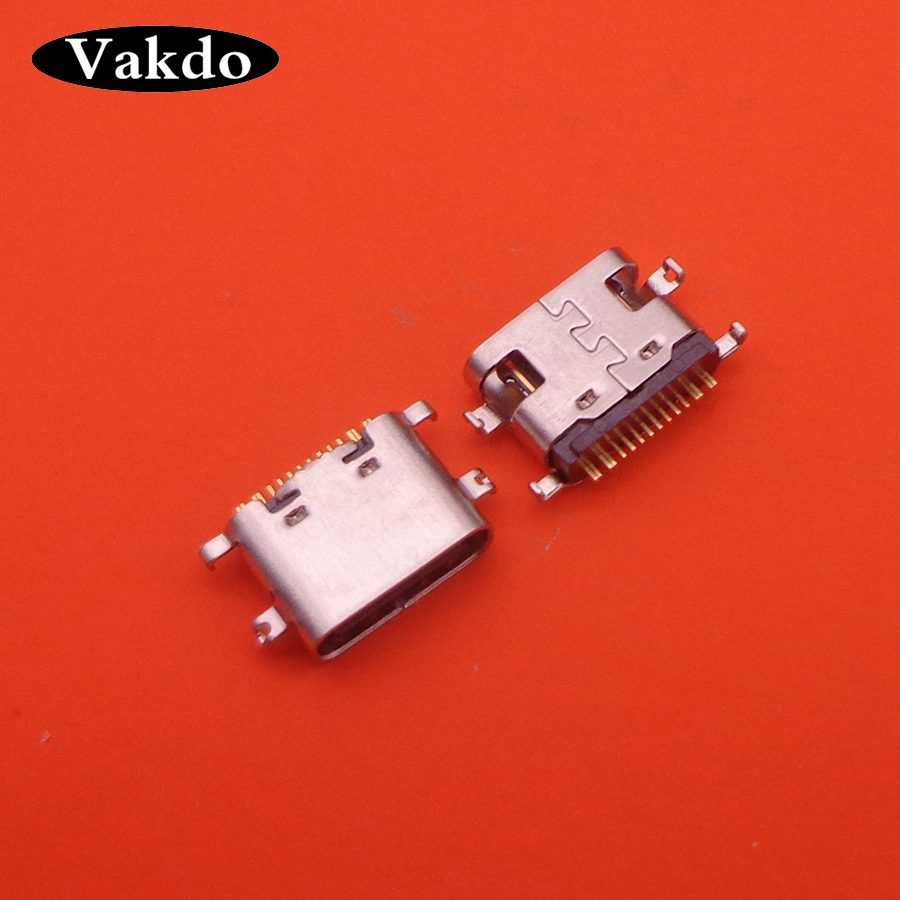 2pcs USB 3.1 Type C Connector 16 Pin Female Right Angle SMT Tab USB Jack 3.1 Version Socket Receptacle For Lenovo S5 K520
