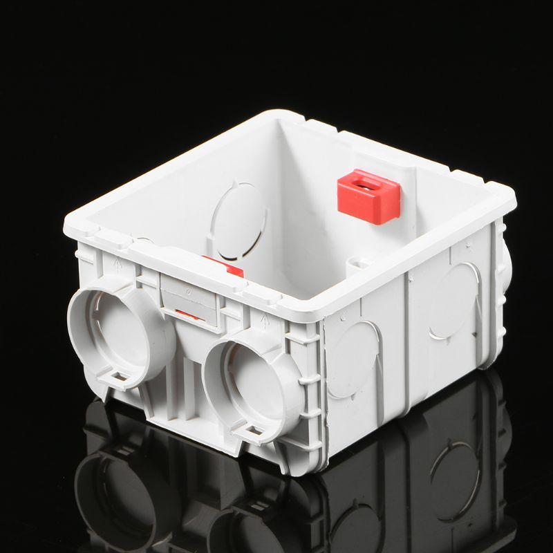 86-Type PVC Junction Box Wall Mount Cassette For Switch Socket Base