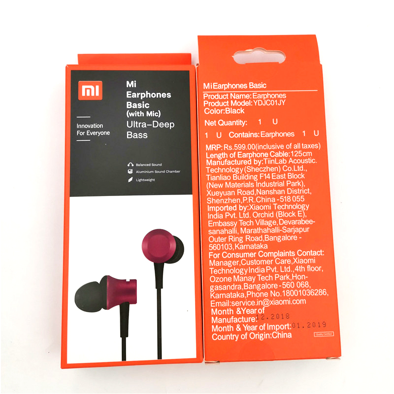100% Official original xiaomi piston 3 earbuds earphone fresh youth version 3.5mm in-ear headset wire-controlled with Microphone 15