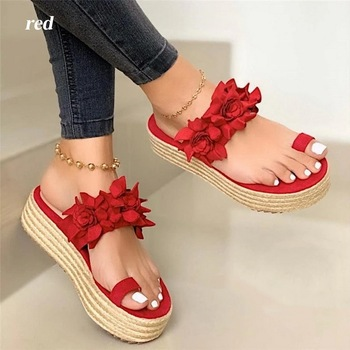 Sandals Platform Flower Slippers Casual Beach Flip Flops Sandals Women Summer Sexy High Heel Sandal ladies 10