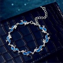 Aobao – Bracelet de luxe en forme d'animal pour femmes, bijoux de pieds, dauphin, nouvelle collection, qualité supérieure, livraison rapide