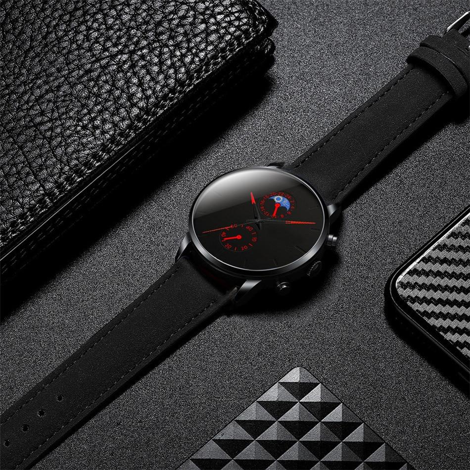 H1269e095d09c4b4fb45910e78079fe4aY Minimalist Fashion Men's Watch Luxury Business Casual Black leather Watches Classic Male Wrist Watch Analog Clock Herren Uhren