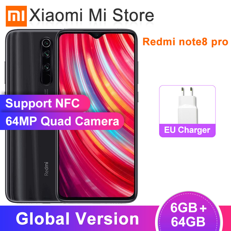 "In Stock Global Version Xiaomi Redmi Note 8 Pro 6GB 64GB Smartphone 64MP Cameras 6.53""Helio G90T Octa Core 4500mAh Battery NFC(China)"