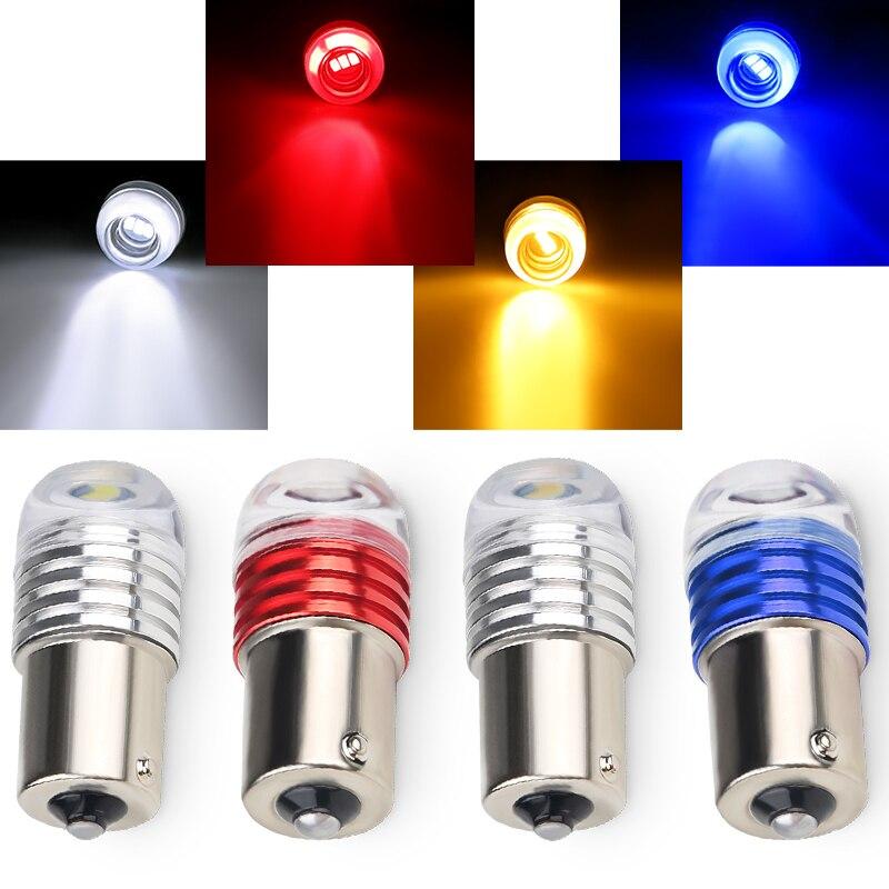 2 шт. 1157 светодиодов 1156 BAY15D светодиодный ная лампа с высоким световым потоком чипы для автомобилей мотоциклов 1156 1157 Красный светодиодный 5730 ...