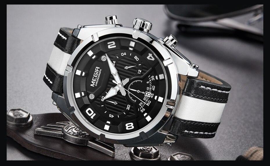 MEGIR Chronograph Sport Watch MG2076