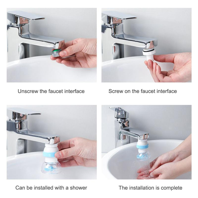 1Pc Plastic Shower Faucet Splash Head Adapter Faucet Nozzle Filter Adapter Water Saving Tap Aerator Diffuser Kitchen Accessories