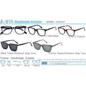 Image 5 - IVSTA OV 5031 with logo NDG 1 Acetate Glasses Men Optical Frame Prescription Polarized Sunglasses Square Luxury Brand Box Myopia