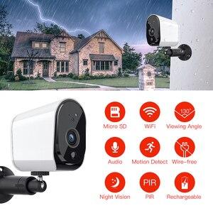 Image 2 - FREDI 낮은 전력 야외 IP 카메라 1080P 정말 무선 감시 카메라 홈 보안 방수 배터리 와이파이 IP 카메라