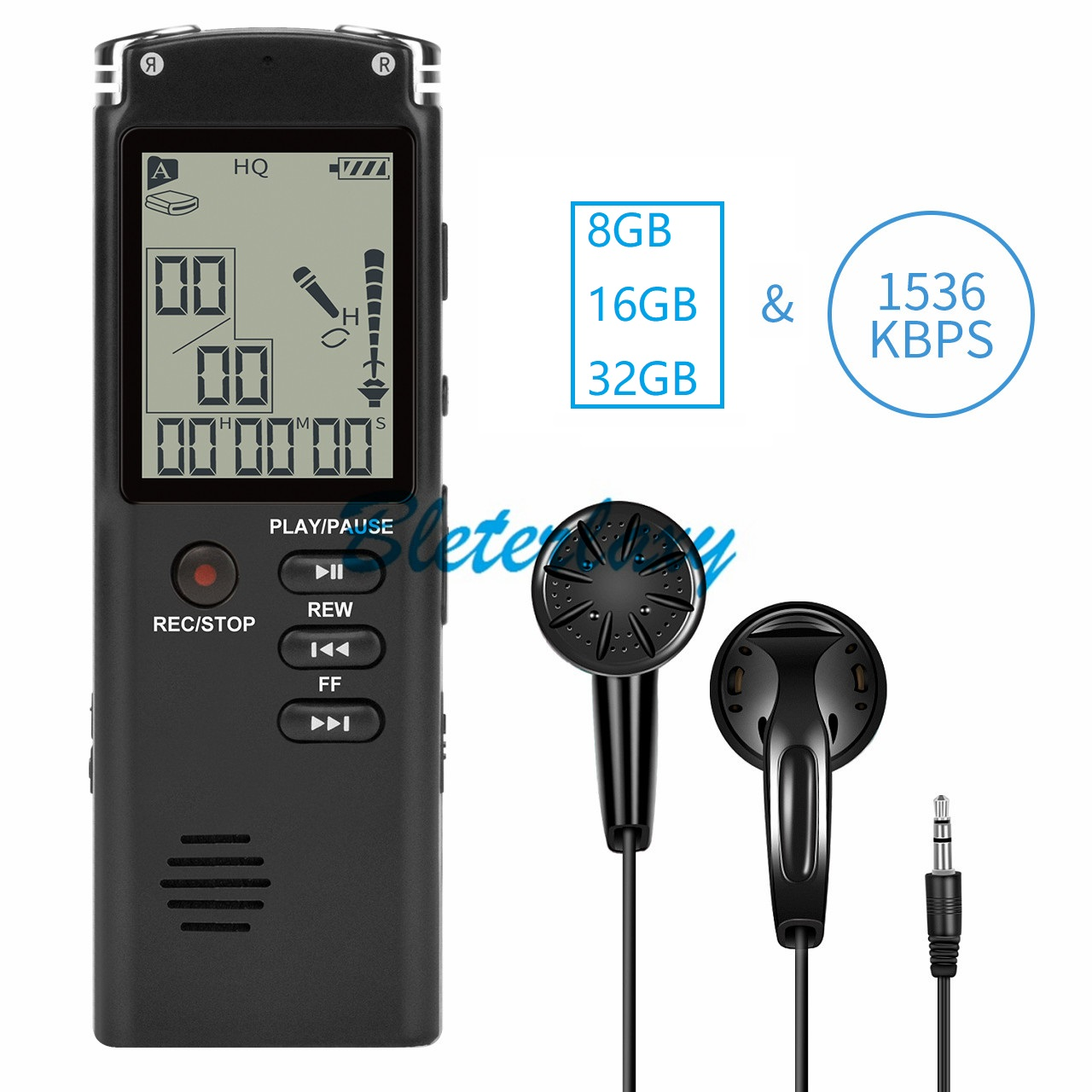 8GB/16GB/32GB ses kaydedici USB profesyonel 96 saat kulaklık dijital ses kaydedici WAV,MP3 oyuncu