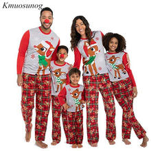 Cotton Family Matching Outfits Christmas Pajamas Set Xmas Family Matching Pajamas Adult Women Kids Sleepwear Nightwear C0575 canis family matching xmas christmas pajamas print adult women kids sleepwear nightwear baby boy girl clothes set long sleeve
