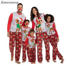 Cotton Family Matching Outfits Christmas Pajamas Set Xmas Family Matching Pajamas Adult Women Kids Sleepwear Nightwear C0575 цена