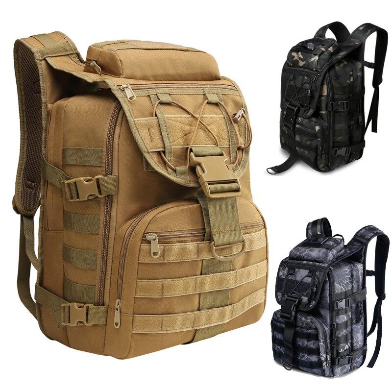 40л военный армейский рюкзак, тактический рюкзак 1000D, мужской рюкзак для путешествий, спорта, кемпинга, рыбалки, активного отдыха, камуфляжные нейлоновые сумки Сумки для альпинизма      АлиЭкспресс
