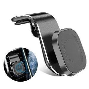 360 metal magnético titular do telefone do carro para xiaomi mi 9t redmi nota 8 pro respiradouro de ar magnético titular do carro gps montar titular ímã suporte