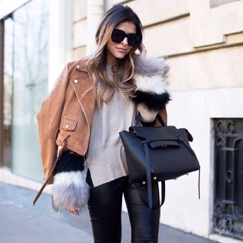 Caker 2018 Women Large Big Genuine Leather Handbag Wing Bag Trapeze Handbag Elegant Lady Chain Belt Shoulder Bag Crossbody Bag