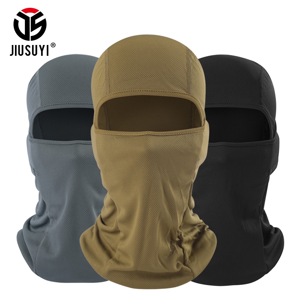 New Balaclavas Cap Windproof Quick-Drying Breathable Anti UV Soft Full Face Mask Bicycle Cycling Tactical Military Army Hats Men