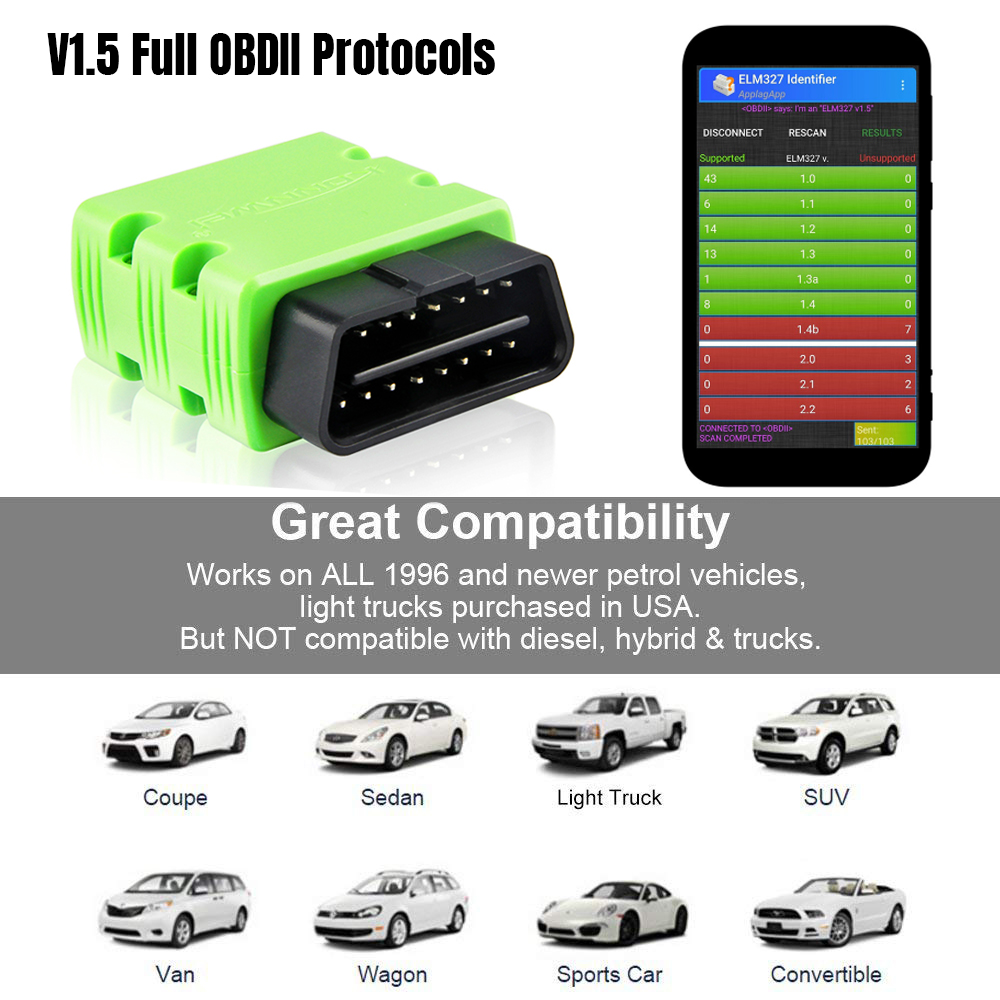 lowest price KONNWEI ELM327 V1 5 OBD2 Scanner KW902 Bluetooth Autoscanner PIC18f25k80 MINI ELM 327 OBDII KW902 Code Reader for Android Phone