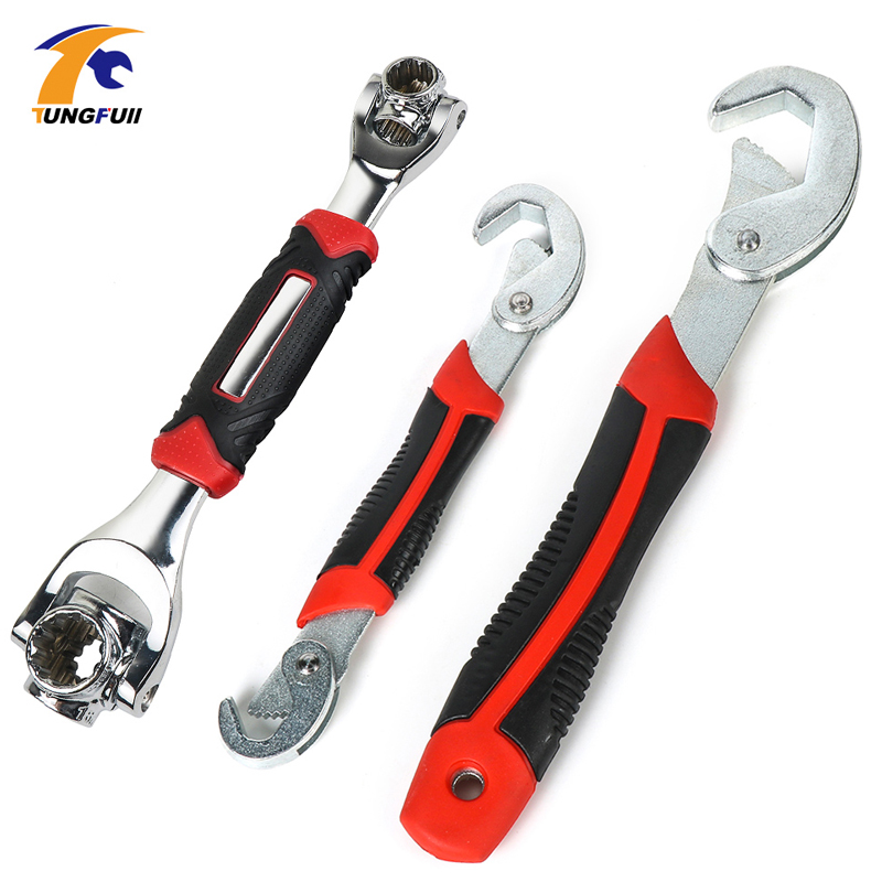TUNGFULL Tiger Wrench 48 In 1 Tools Socket Works Universal Wrench Adjustable Grip Multi-Function Hand Tool
