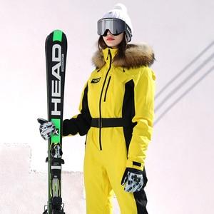 Image 3 - 実行している川ブランド防水ジャケットの女性のスキースーツ女性のスキースノーボードジャケット女性スノーボードセット服 # N9470