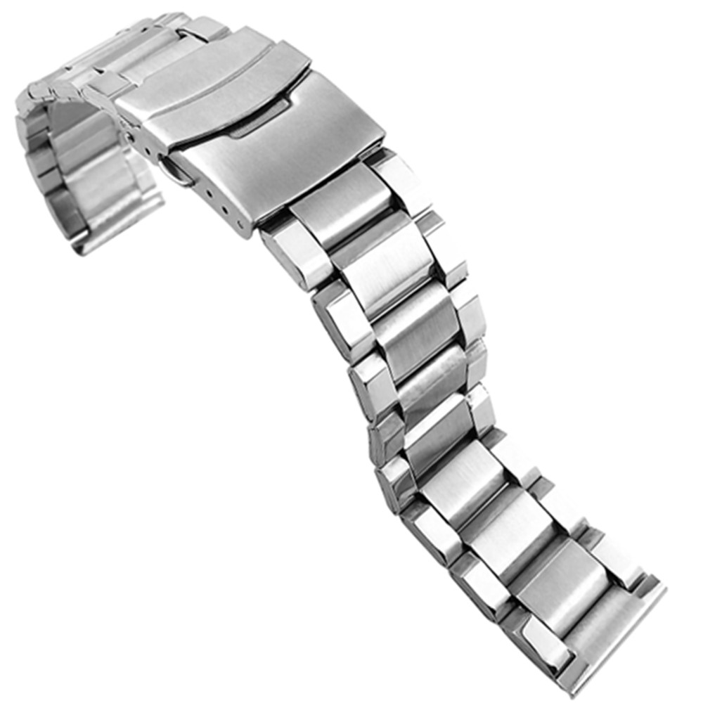 Ремешок из нержавеющей стали для samsung Galaxy Watch 46 мм 42 мм ремешок с шириной 22 мм 20 мм металлический браслет три звенья
