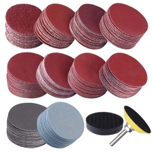 Sander-Disc with 1inch Abrasive Polish-Pad-Plate Shank for Rotary 200pcs 50mm 50mm