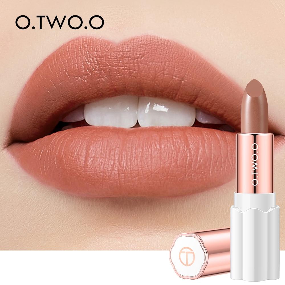 O.TWO.O Nutritious Lipstick Moisture Velvet Matt Nude Fashion Lips Makeup Long Lasting Waterproof Smooth Lipsticks