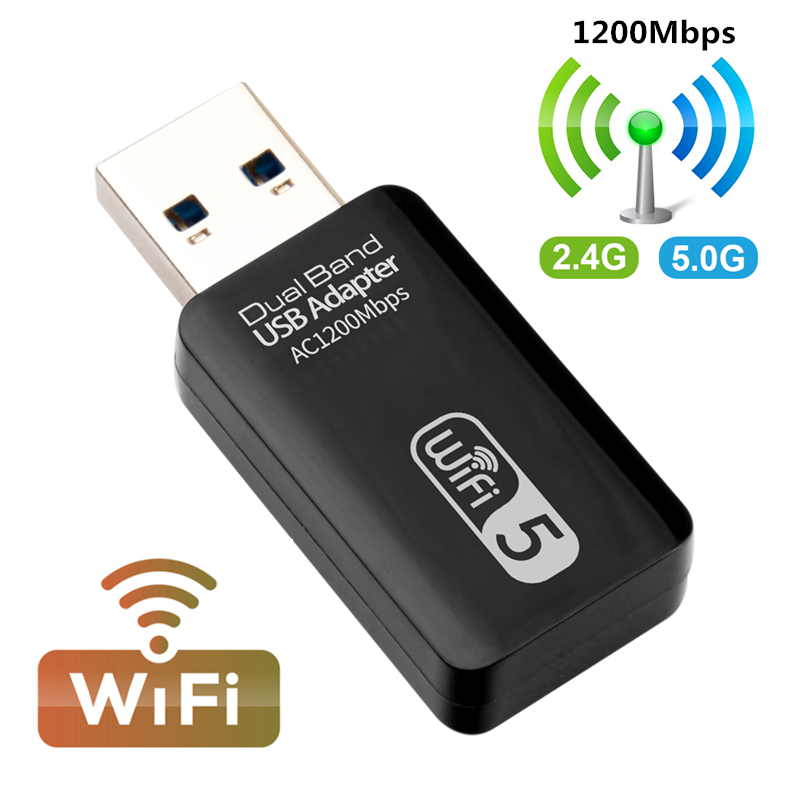 Wi-fi usb-адаптер Wi-fi 5G Гц Wi-fi usb-адаптер переменного тока 1200 Мбит/с Wi-fi адаптер Dual Band USB 3,0 Ethernet 2,4G 5G антенной Wi-fi для ПК