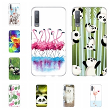 For Samsung Galaxy A3 A7 2018 Case TPU For Samsung Galaxy J1 2016 Cover Flamingo Pattern For Samsung Galaxy J2 Core J2 Prime Bag все цены