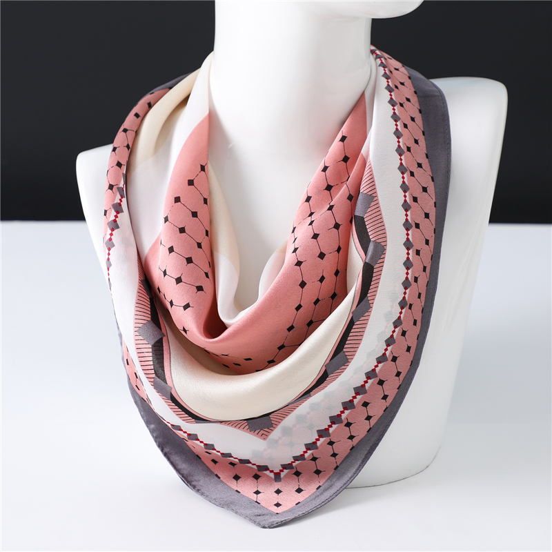 Small Dot Print Silk Scarves 2020 Spring New Trend Square Scarf Women  High Quality Shawls Wraps Foulard Bandana Femme Echarpe