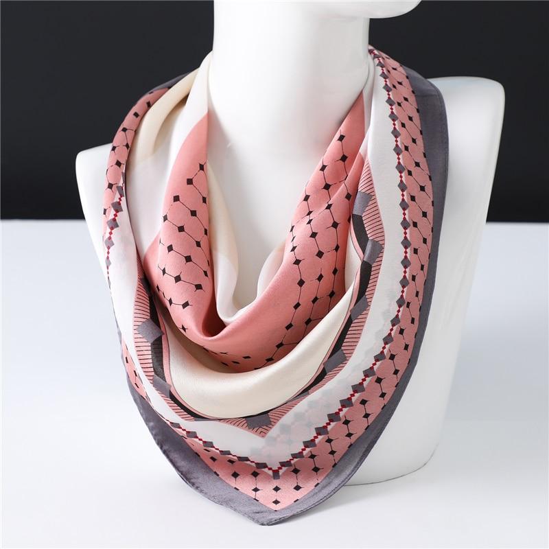 Small Dot Print Silk Scarves 2020 Spring New Trend Square Scarf Women  High Quality Shawls Wraps Foulard Bandana Femme Echarpe