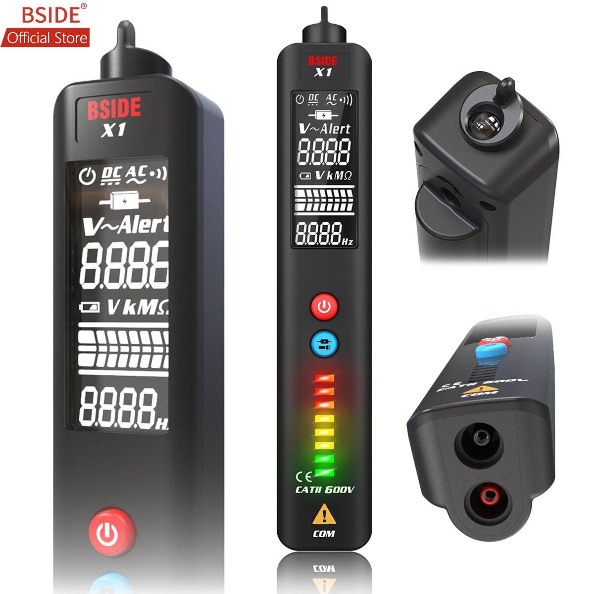 BSIDE X1 EBTN Напряжение тестер 3 он-лайн большой ЖК-дисплей детектор Напряжения Бесконтактный Двойной диапазон AC Напряжение сенсорная ручка жив...