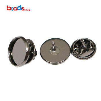Beadsnice | cabujón de latón broche AJUSTE DE Pin seguro de plomo sin níquel mariposa tachuela en blanco accesorios para hombre