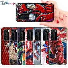 Marvel Avengers süper kahraman örümcek adam Huawei P akıllı için Z S Pro Plus 2018 2019 2020 2021 Mate 10 20 30 40 RS PRO telefon kılıfı
