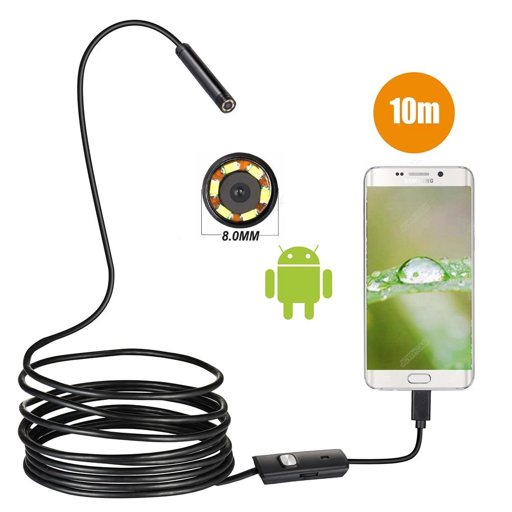 720P 8MM OTG Android Endoscope Camera 1M 2M 5M 10M Video Endoscope Borescope Inspection Camera Windows USB Endoscope For Car