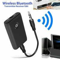 2 en 1 Bluetooth 5.0 émetteur récepteur TV PC voiture haut-parleur 3.5mm AUX Hifi musique Audio adaptateur/casque voiture/maison stéréo dispositif