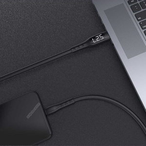 Image 5 - Youpin WSKEN USB 2.0 إلى Type C كابل الشاحن شاشة عرض الجهد الحالي توقيت السلطة قبالة مكافحة لف نوع C DataCable
