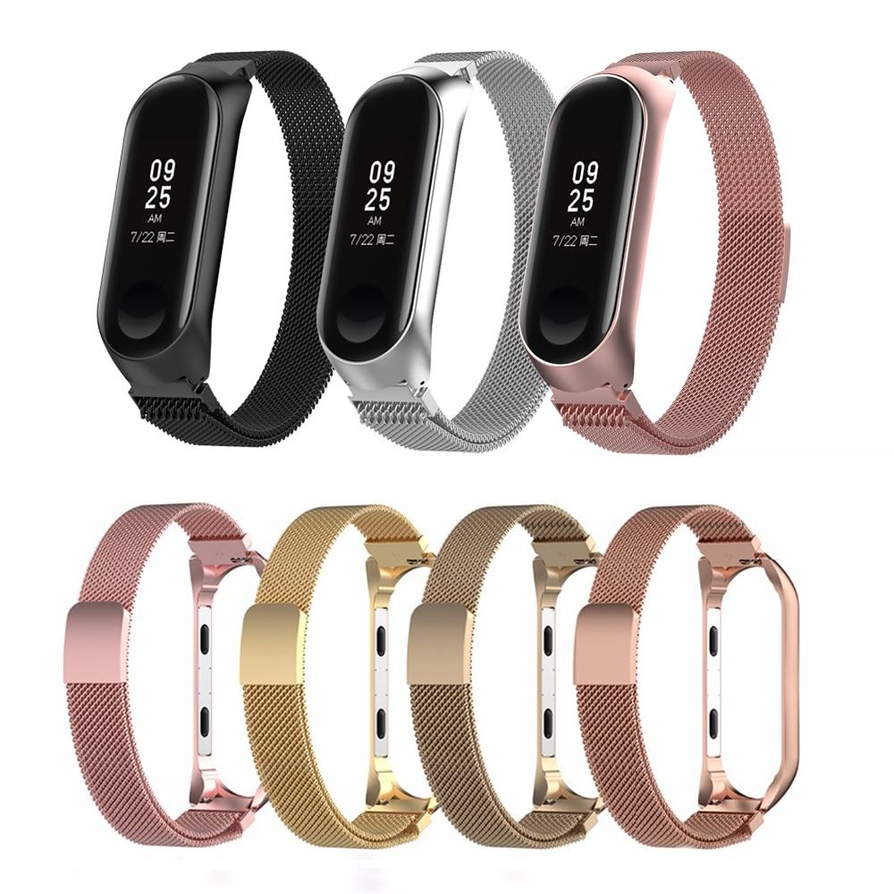 Smart Watch Strap For Xiaomi Mi Band 3 4 Wrist Metal Bracelet  Stainless Steel For Pulseira Xiaomi Mi Band 4 3 Strap Wristband