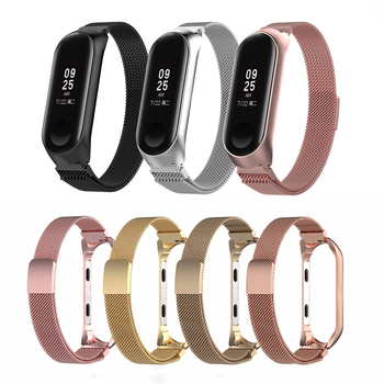 Smart Watch Strap for Xiaomi Mi Band 3 4 Wrist Metal Bracelet  Stainless Steel for Pulseira Xiaomi Mi Band 4 3 Strap Wristband stainless steel watch band 26mm for garmin fenix 3 hr butterfly clasp strap wrist loop belt bracelet silver spring bar