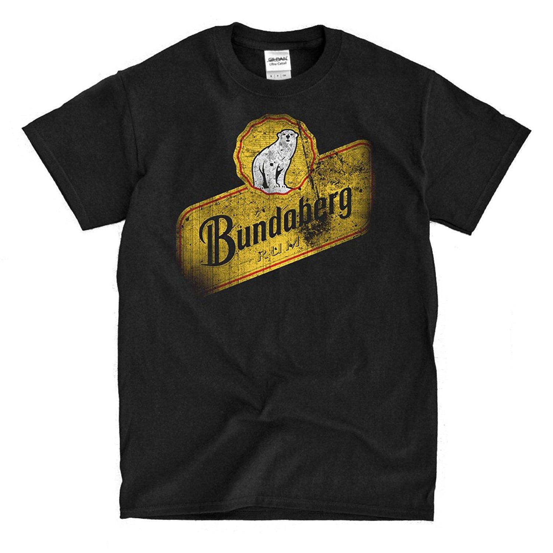 T Shirt Crew Neck Men Short Sleeves New Fashion T Shirt Men Clothing Bundaberg Rum Distressed Black Mens T Shirt 016246